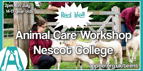 Appeer Autistic Girls' Animal Care & Management Workshop  NESCOT( age14-18) tickets