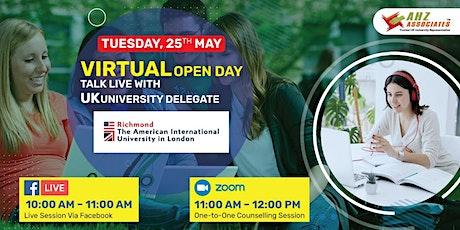 Virtual Open Day of Richmond University – The American University in London biglietti