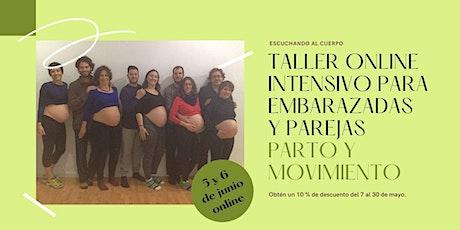 Parto y Movimiento. Taller intensivo online para embarazadas y parejas. entradas