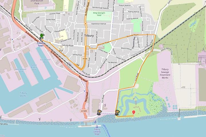 Tilbury Town to Tilbury Fort walk plus finale celebration image