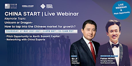 """""""How to tap into the Chinese market"""" Keynote Speech &  Investment Pitch biglietti"""