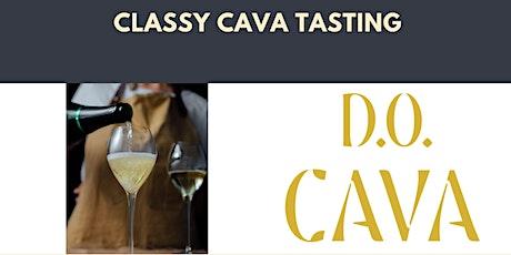 Classy Cava online tasting tickets