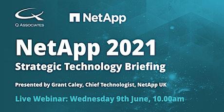 NetApp 2021 - Strategic Technology Briefing tickets
