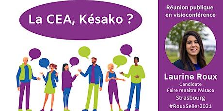 La CEA Késako ? Avec Laurine Roux, candidate aux élections départementales billets