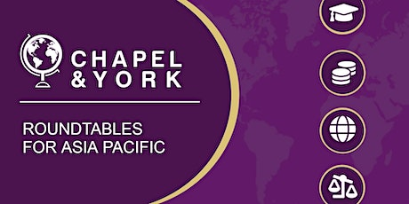 Chapel & York Live Q&A -Educational Fundraising for Asia Pacific - 03.06.21 tickets