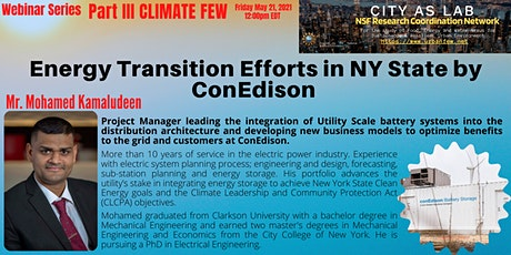 Energy Transition Efforts in NY State by ConEdison tickets