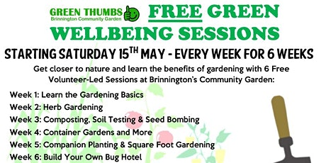 FREE GREEN WELLBEING SESSIONS tickets