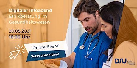 Digitaler Infoabend: Ethikberater:in im Gesundheitswesen (AEM) K1 Tickets