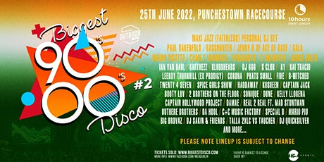 Biggest 90s 00s disco outdoor festival tickets