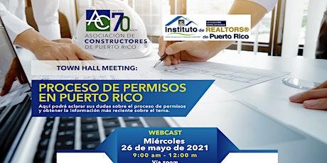Town Hall Meeting: Proceso de Permisos en Puerto Rico boletos