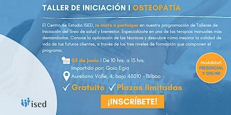 Taller de Iniciación de Osteopatía - Junio boletos