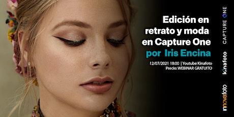 Edición de retrato y moda en Capture One con Iris Encina entradas