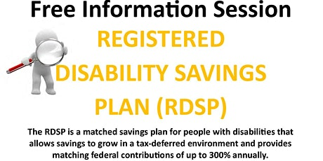 Registered Disability Savings Plan tickets