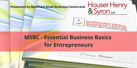 MSBC - Essential Business Basics for Entrepreneurs tickets