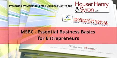 MSBC - Essential Business Basics for Entrepreneurs tickets