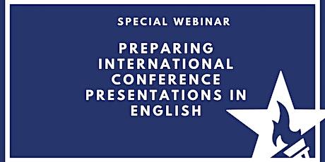 Preparing International Conference Presentations in English ingressos