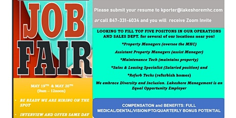 Job Fair-Virtual tickets