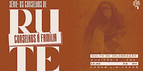 CELEBRAÇÃO CARVALHO 16.05 ÀS 9H NO AUDITÓRIO 120 ingressos