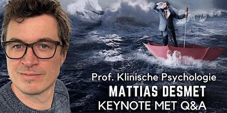 Mattias Desmet: Keynote met live Q&A tickets