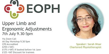 Upper Limb and Ergonomic Adjustments Workshop tickets