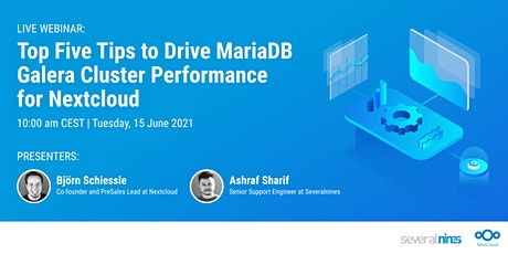 Top Five Tips to Drive MariaDB Galera Cluster Performance for Nextcloud tickets