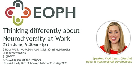 Thinking Differently About Neurodiversity at Work tickets