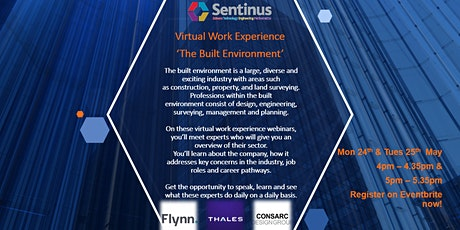 Engineering & the Built Environment - Virtual Work Experience tickets