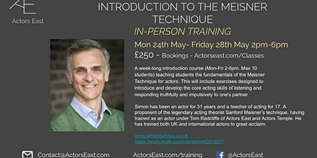Introduction to Meisner Technique with Simon Furness tickets