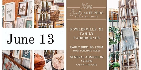 Finders Keepers Vintage Market  in Fowlerville, Michigan ! tickets