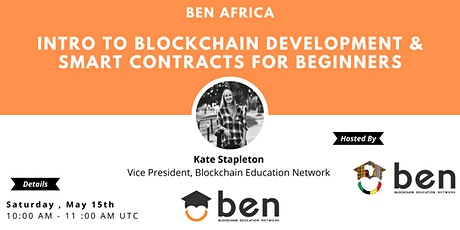 Intro to Blockchain Development and Smart Contracts for Beginners tickets