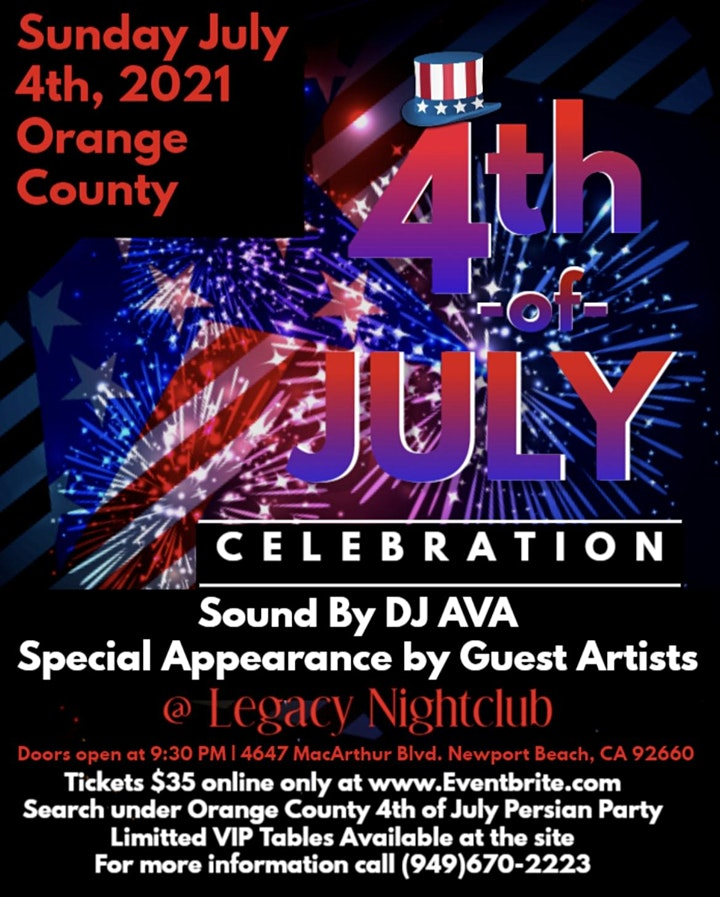 Orange County 4th of July, 2021 Persian Party image