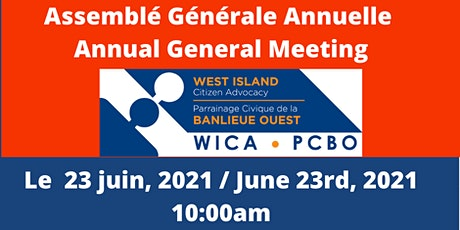 AGM - Annual General Meeting 2020-2021 - WICA tickets