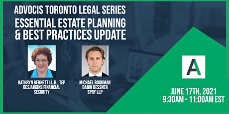 Advocis Toronto:  Essential Estate Planning & Best Practices Update tickets