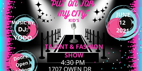 Put on for My CIty Youth Fashion/Talent Show tickets
