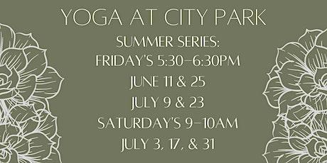 Yoga at City Park tickets