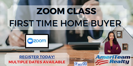 First Time Home Buyer Zoom Class tickets