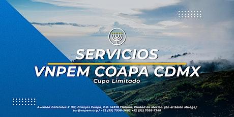VNPEM Coapa - 3 Servicios Dominicales 16 de Mayo entradas