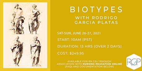 (June 2021) Introduction to BioTypes with Rodrigo Garcia Platas ingressos
