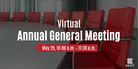 OACETT's Virtual Annual General Meeting - STUDENT & ASSOCIATE REGISTRATION tickets