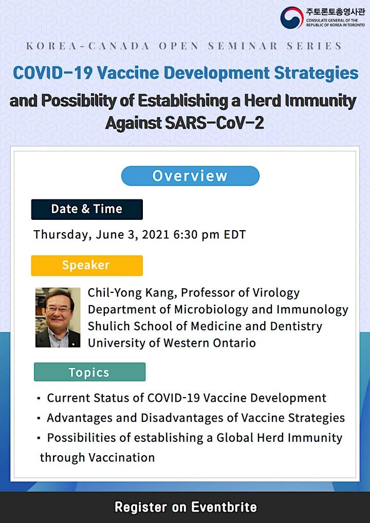 [Korea-Canada Open Seminar] COVID-19 Vaccine Development Strategies image