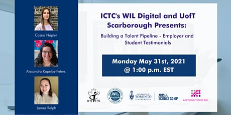 ICTC's WIL Digital and UofT Scarborough: Building a Talent Pipeline tickets