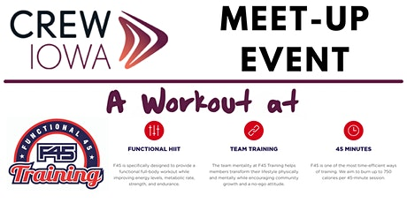 CREW Iowa Meet-Up Event - A Workout at F45 (Functional 45) tickets