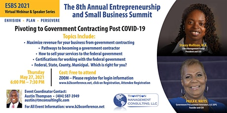Pivoting to Government Contracting Post COVID-19 tickets