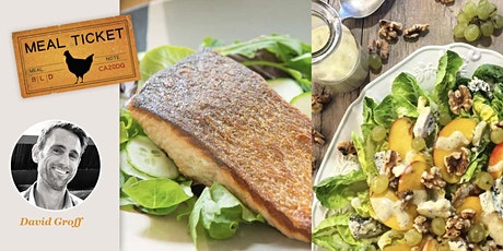 MealticketSF's Private Live Cooking Class -Salmon, Little Gem & Peach Salad tickets