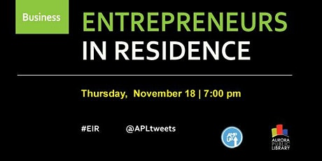 Entrepreneurs in Residence tickets