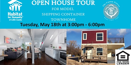 Open House at the Model Townhome made of shipping containers tickets