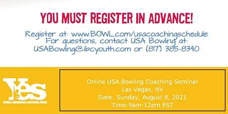 FREE USA Bowling Online Coaching Seminar - Las Vegas, NV tickets