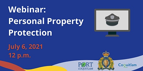 Personal Property Protection - Community Safety Series tickets