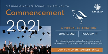 2021 Virtual Commencement tickets
