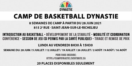 Camp de basketball Dynastie billets
